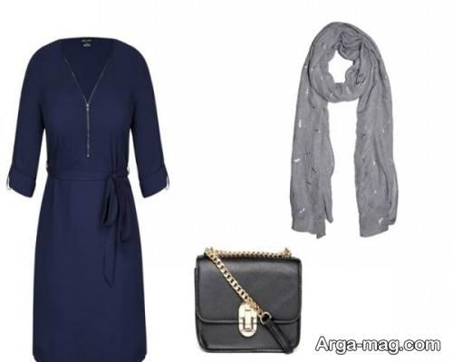 مدل ست لباس با رنگ تیره