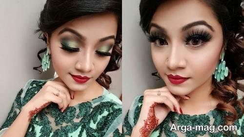 آرایش با لباس سبز