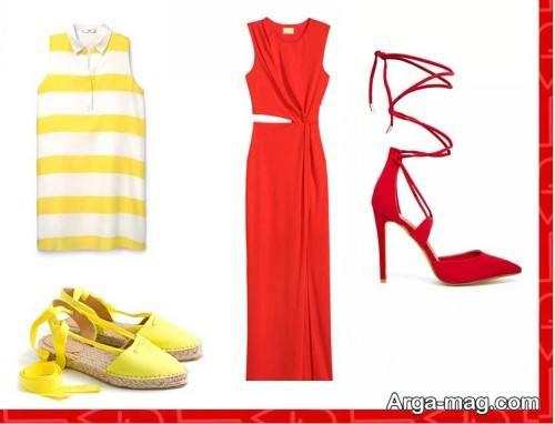 ست لباس زرد و قرمز مخصوص فصل بهار