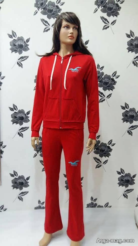 ست لباس ورزشی زنانه قرمز رنگ