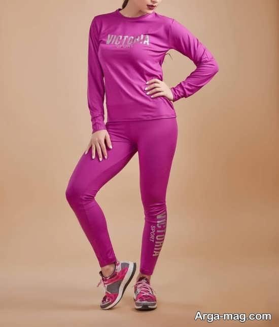 ست لباس ورزشی زنانه صورتی رنگ