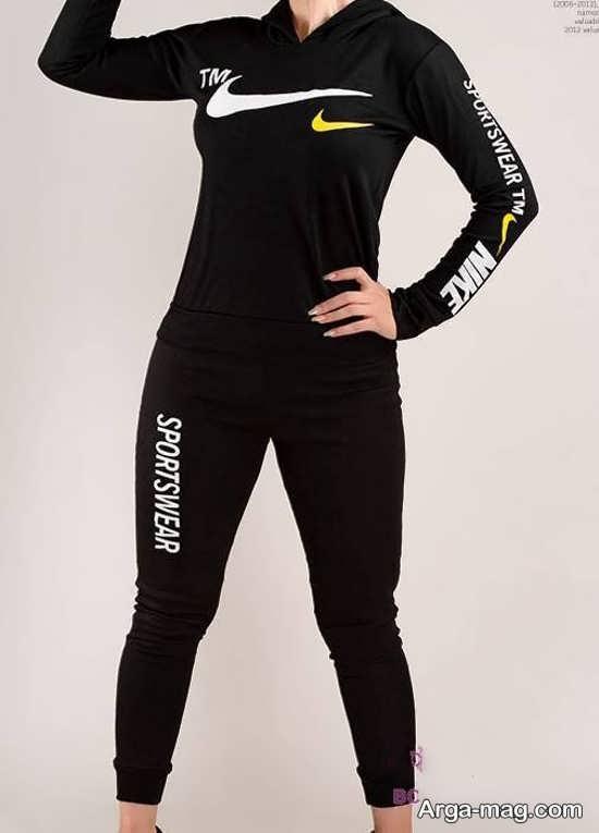 مدل لباس ورزشی دخترانه رنگ مشکی