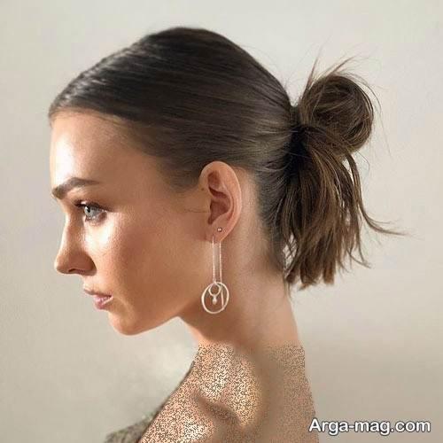 شینیون موی ساده دخترانه