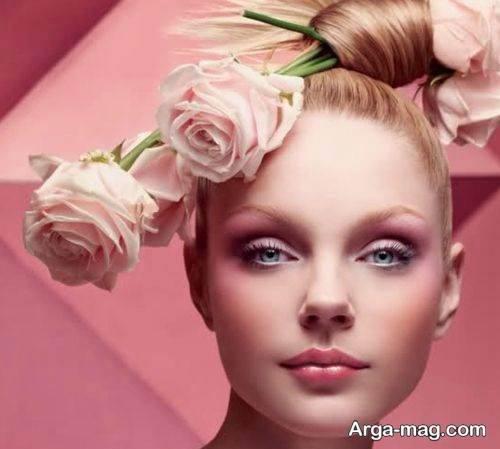 مدل آرایش صورت زیبا و بهاره