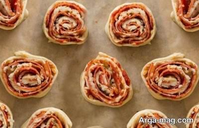 طرز تهیه پیتزا چرخی در منزل