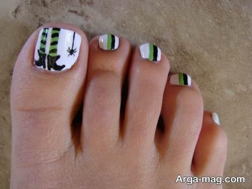طراحی ناخن پا با روش زیبا