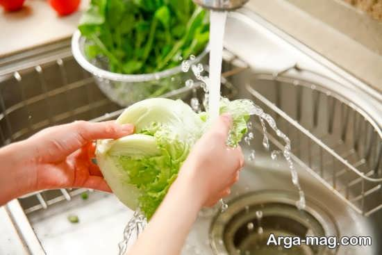 توصیه هایی برای شستن سبزیجات