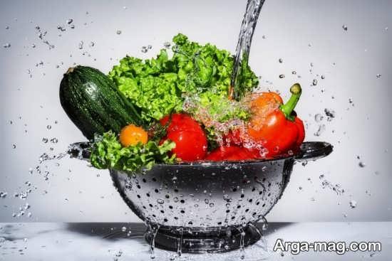استفاده از سرکه سفید برای شستشوی سبزیجات