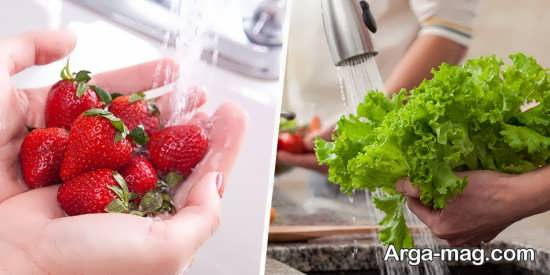 شستشوی سبزیجات با چند تکنیک ساده