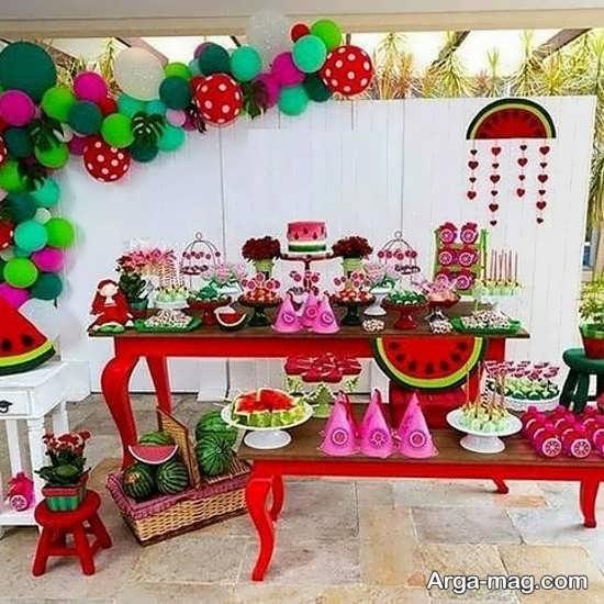 تزیینات جشن تولد زیبا و شیک