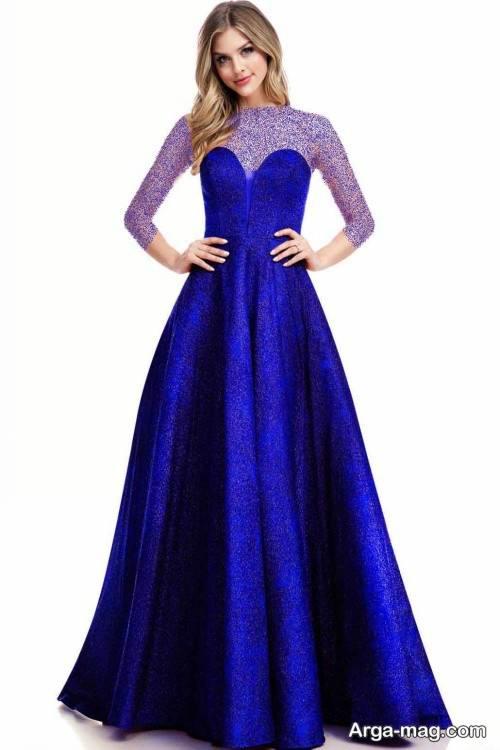 لباس مجلسی آبی زنانه