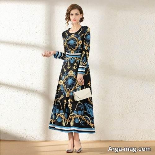 لباس مجلسی طرح دار زنانه