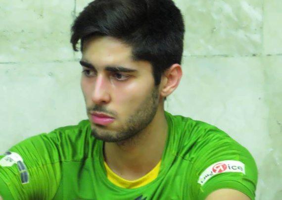 علی شفیعی بازیکن تیم ملی والیبال کشور