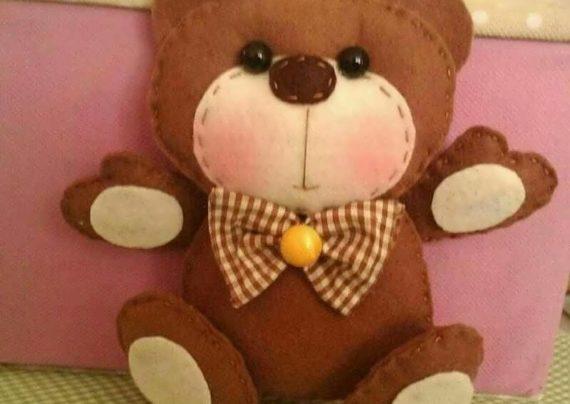آموزش عروسک خرس نمدی