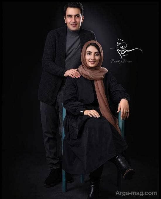 عکس های آتلیه ای الهام طهموری و همسرش/عکس