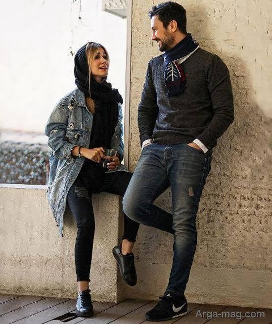 چهره ی جذاب شاهرخ استخری و همسرش