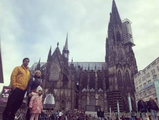 خانواده سه نفره یکتا ناصر در کشور آلمان/عکس