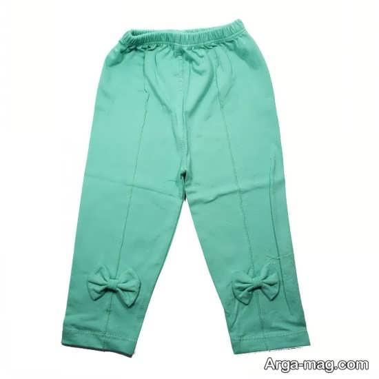 نمونه شلوار سبز رنگ بچگانه جالب