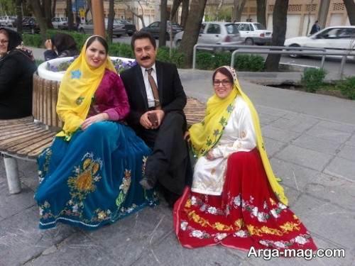 لباس بختیاری زنانه و مردانه