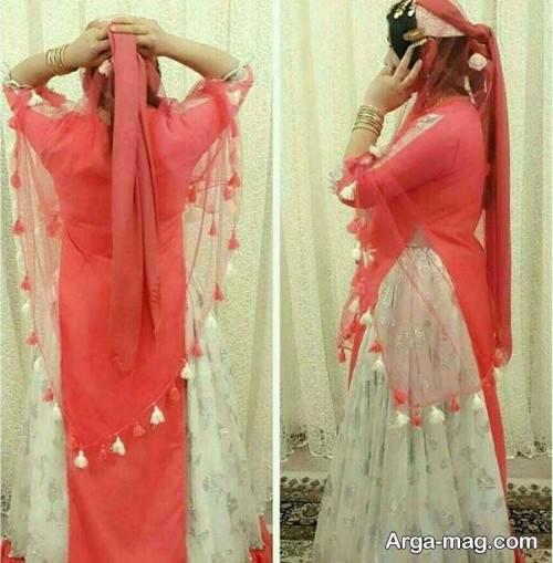 لباس بختیاری دو رنگ