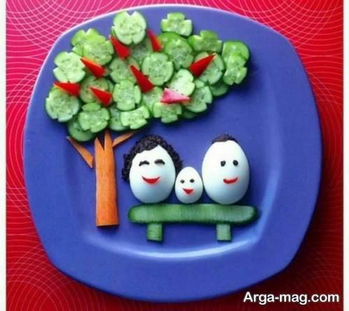 تزیین تخم مرغ برای صبحانه