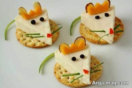 تزیین پنیر برای کودک