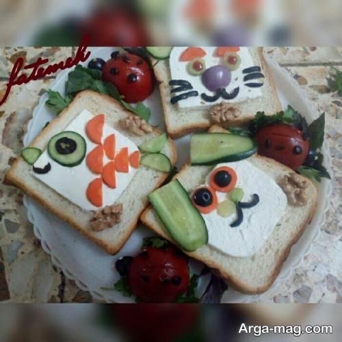 تزیین نان و پنیر برای مدرسه