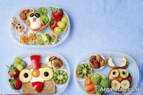 تزیین صبحانه برای مدرسه