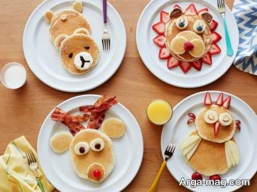 تزیین صبحانه برای بچه ها با روش های جالب