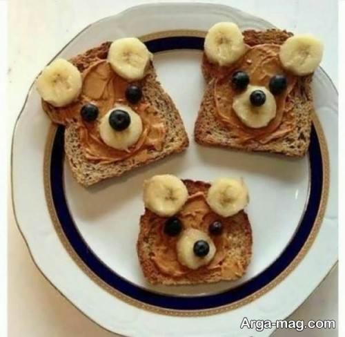 تزیین نان تست برای صبحانه