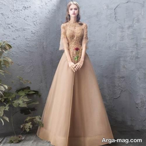 مدل لباس مجلسی دخترانه یقه بسته