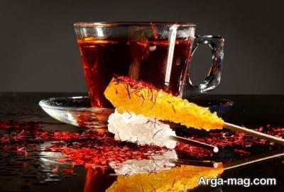 طرز تهیه چای زعفرانی