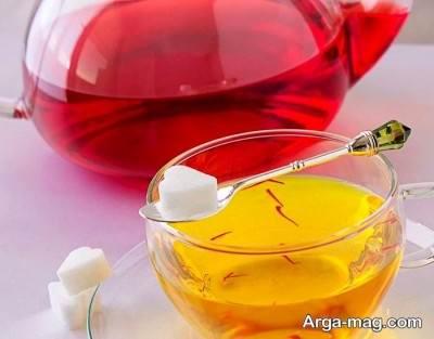 چای زعفرانی خوش طعم