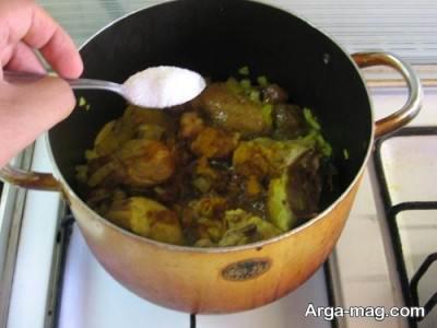 افزودن شکر به خورش هویج