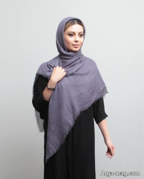 روسری نخی ساده و زیبا