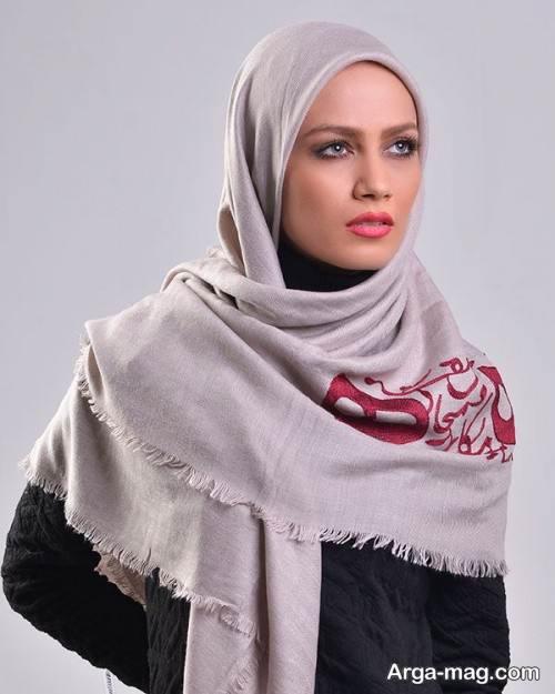 روسری نخی طرح دار و زیبا