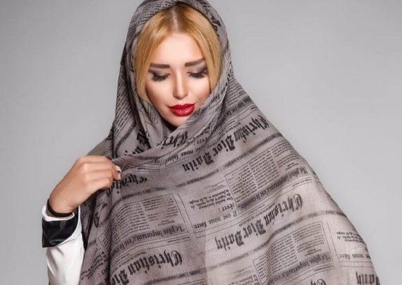 مدل روسری بلند نخی