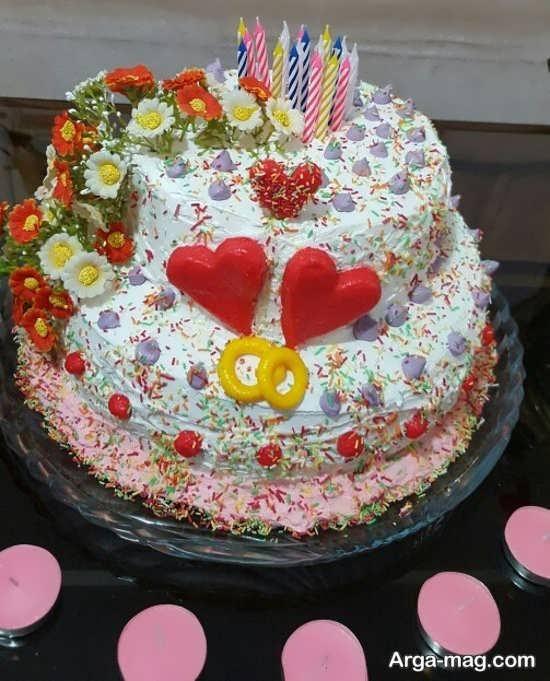 تصاویری از کیک چند طبقه با تزیینات زیبا