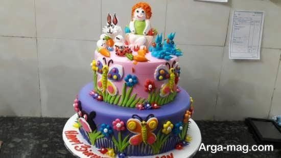 تصاویری از تزیینات کیک چند طبقه