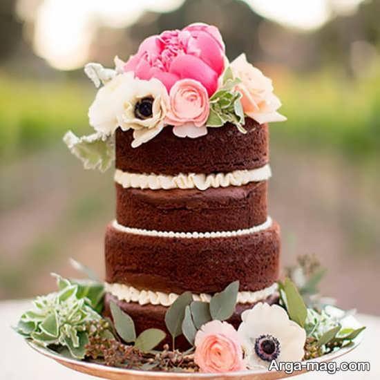 تزیین کیک سه طبقه