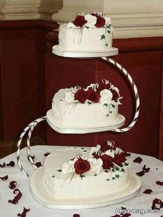 تزیینات شیک کیک چند طبقه