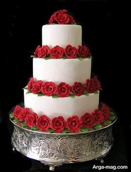تزیینات کیک چند طبقه خوشمزه