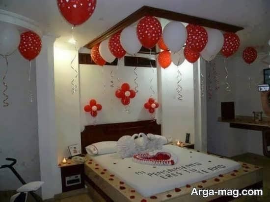 مدل طراحی سقف اتاق خواب عروس