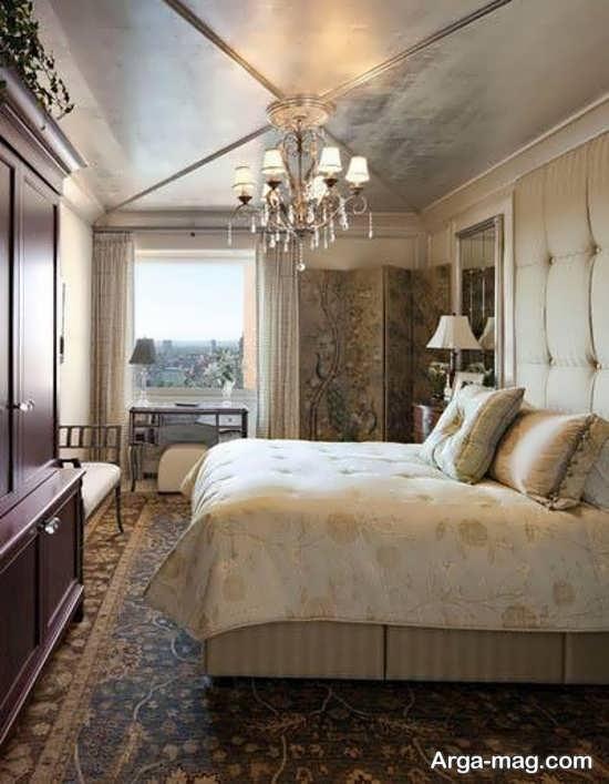 طراحی شیک سقف اتاق خواب