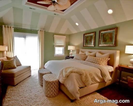 طراحی زیبای سقف اتاق خواب