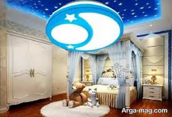 دیزاین شیک سقف اتاق خواب