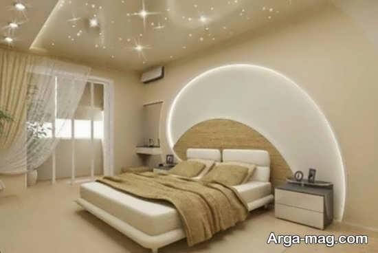 دکوراسیون جذاب سقف اتاق خواب