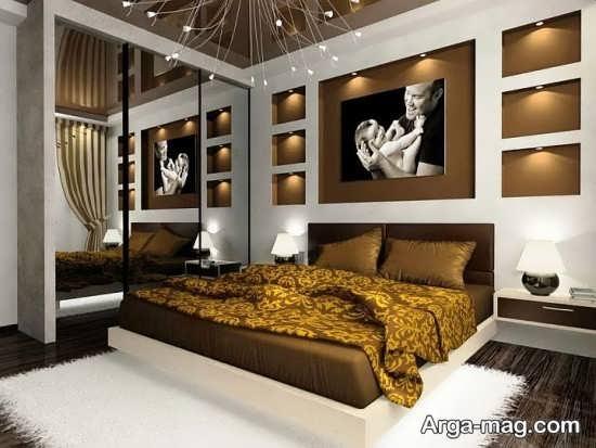 تزیین شیک سقف اتاق خواب