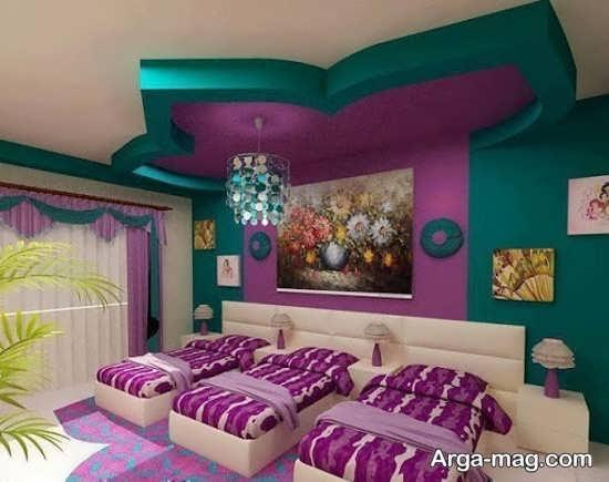 تزیینات جذاب سقف اتاق خواب