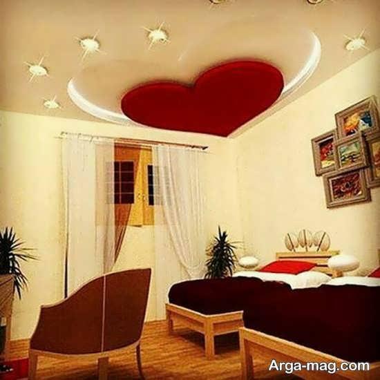 تزیینات جدید سقف اتاق خواب